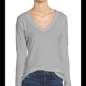 ❤sale# James perse cotton long sleeve v neck tee